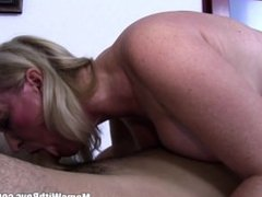 Blonde Busty Mature Stepmom Having Sex With Lazy Stepson