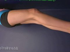 hot blonde babe foot domination