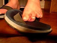 flip flop cock crushing footjob