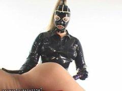Mistress Bounds me and makes me cum
