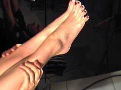 Poison workout feet soles lick worship leglifts