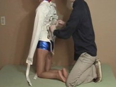 Cute girl straightjacket and tape gag