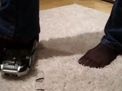 Nylon feet crush toy car volvo