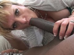 Lady Sonia in rough black cuckold fuck and blowjob