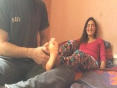 Anne Feet Tickled