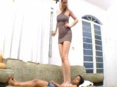 tall girl and small girl