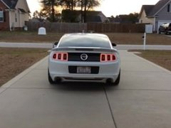 Cold Start (2014 Mustang GT 5.0 new H Pipe Resonator Delete with Borlas)