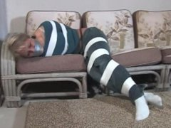 Babysitter Adara taped up!