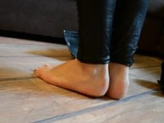 Black Boots Without Socks Foot Tease
