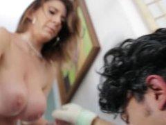 Mexican Gardner fucks big titted MIlf Sara Jay