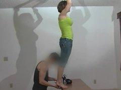 Viviana tickling feet soles toes on tiptoe part 1 (Viviana rare video)