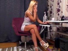 Girl chatting and smoking