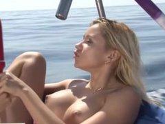 BLONDE BOMBSHELLS Marsha May & Elsa Jean Fuck Each Other on a Boat