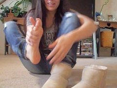 Coed Stinky boots socks and feet