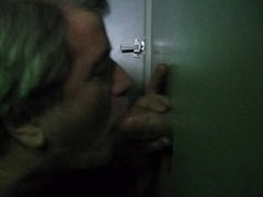 SUCKING COCK AT A GLORY HOLE AGAIN