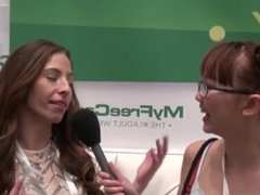 Camgirl AmyDay from MFC interviewed by Harriet Sugarcookie at AVN 2015
