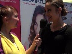 Pornstar RemyLaCroix reveals all during Harriet Sugarcookie interview AVN15