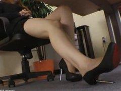 Goddess Victoria Under Desk Foot Domination