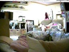 Teen caught masturbating in bedroom (hidden cam - Peepholecam 030413)