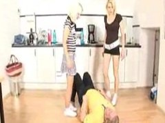 Older Clip - Michelle and Mandy Trample Slave