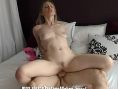 Cum Slut Riley Reynolds gets railed by massive cock and takes a huge load