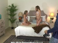 Complete behind the scenes of Kinsley eden and Kimmy granger take on chad
