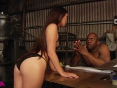Anal Warriors 2 - Tiffany Doll anally ravaged by black cock in a warehouse