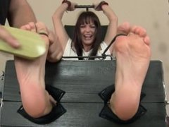 Sandra Feet tickled in stock
