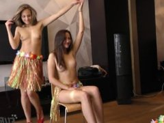 Halloween Mira and Patricia First Ever Girl Girl Lap Dance in My Living Roo