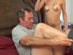 Watching step daughter Hope Harper masturbating in shower