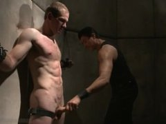 Straight Dude John Smith Gets Choked Electrified And Made to Cum - Scene 1
