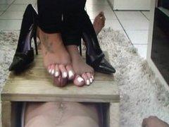 goddess footjob trample