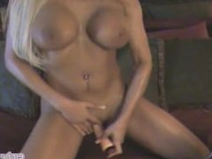 Horny Hot MILF with Massive Tits Fucks Herself