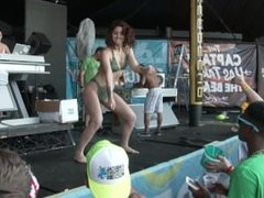 Hot Bikini Dance Contest at La Vela Many Beautiful Girls