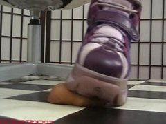 Purple Buffalo Boots Trample and Plays with Cock