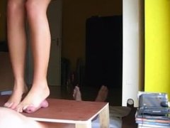 bare feet trample