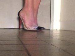 My sweaty feet in my new shoes