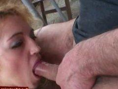 Dutch Blonde Rough BJ and Facial