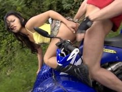 Asian Sweetie Lady Mai Gives Blowjob While Riding an off Road Vehicle