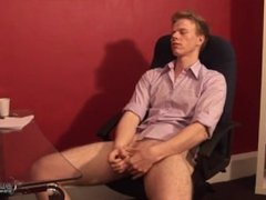 Work Loads - Charlie Ford Enjoys a Wank at Work