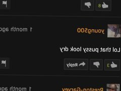 Bug with comments on Pornhub