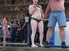 abate 2013 cougar and badass milf wet tshirt contest at iowa biker rally