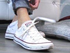 Converse, socks & feet