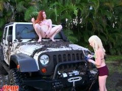Wash My Car And My Pussy: Piper Perri and Veronica Vain