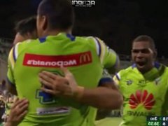 Canberra Raiders and West Tigers double penetration anal gangbang