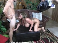 BTS - Stunny milf Eva Notty LOVEs fat dick n she gets that and a big facial