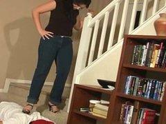MIstress Trample by Black high heels