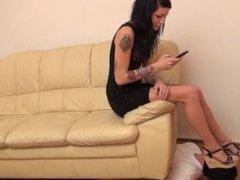 Loren - Slave under the couch!