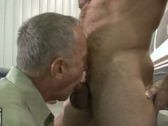 Muscle Daddy Shay Michaels Fucks Daddy Kent on Wings of an Airplane