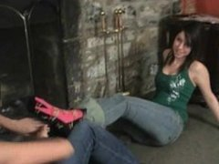 Tiffany Preston tickling her twin sister Brittany